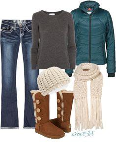 Colour combination/jumper/scarf