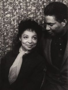 RIP gone to soon....1961: Ruby Dee and Ossie Davis - actors, poets, playwrights, social activists. They were married for over fifty years until Ossie Davis' death in 2005.