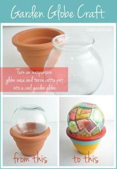 Garden Globe Craft Idea @clubchicacircle