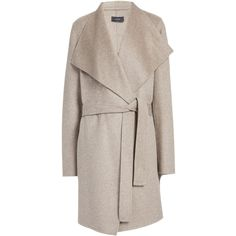 Joseph Double Cashmere Lisa Long Coat in DARK OATMEAL (£535) ❤ liked on Polyvore featuring outerwear, coats, jackets, dark oatmeal, long cashmere coat, fur-lined coats, longline coat, wool cashmere coat and cashmere coats