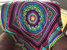 Crochet: Danaans Turkish Bazaar Afghan. Pattern: Sophie's Garden by Dedri Uys increased to blanket size http://www.ravelry.com/projects/danaan/sophies-garden