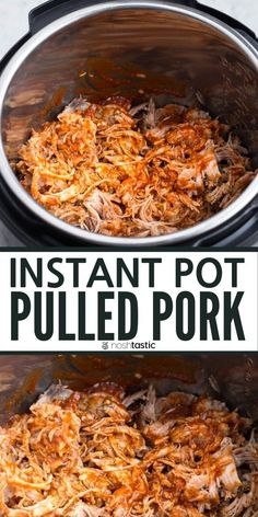 Instant Pot Pulled Pork easy BBQ pork recipe make it with pork shoulder Pork Butt Boston Butt or Pork Loin an easy healthy pressure cooker recipe. Pulled Pork Instant Pot Recipe, Pulled Pork Recipes, Best Instant Pot Recipe, Instant Pot Dinner Recipes, Pork Butt Bbq Recipe, Healthy Pulled Pork, Bbq Pork Shoulder, Pork Shoulder Recipes, Pressure Cooker Pork