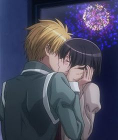 Usui and Misaki - Kaichou wa Maid sama. Not really fanart, as it's a scene from the anime, but still beautiful <3