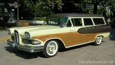 1958 Edsel Bermuda Six Passenger Station Wagon Ford Lincoln Mercury, Edsel Ford, Car Ford, Classic Motors, Classic Cars, Vintage Cars, Antique Cars, Retro Cars, Station Wagon Cars