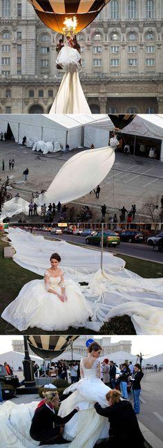 World longest train #amazing #wedding #dresses