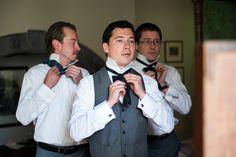 Krystin & Ed - June 2014 Tartan bow ties at a garden wedding Ireland Wedding, Destination Wedding Planner, Garden Wedding, Tartan, Wedding Ceremony, Castle, Bow Ties, June, Weddings