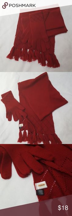 Scarf glove set Talbots BE IT knit glove with matching scarf Talbots Accessories Scarves & Wraps