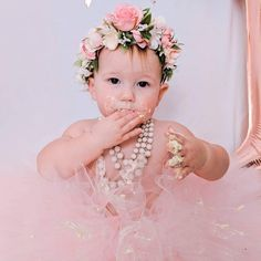 The prettiest in P. Such a sweet cake smash photo sesh shared by Cake Smash Photos, First Birthday Outfits, Sweet Cakes, Pretty In Pink, First Birthdays, Flower Girl Dresses, Wedding Dresses, Instagram, Bride Dresses