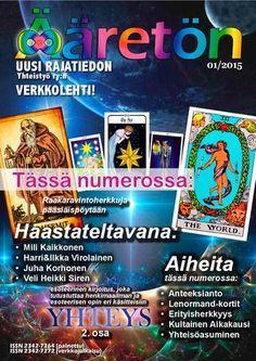 Ääretön 1/2015 Personal Development, Tarot, Career, Tarot Cards