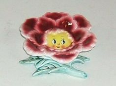 Vintage Flower Face Wall Pocket