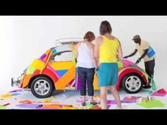 colorful VW beetle