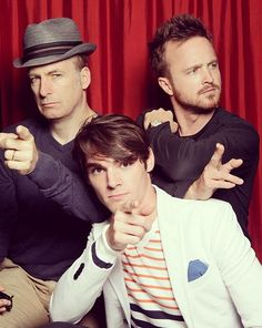 Breaking Bad: Bob Odenkirk, RJ Mitte, and Aaron Paul.