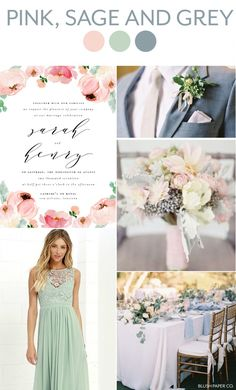 pink, sage and grey wedding inspiration   blush paper co.