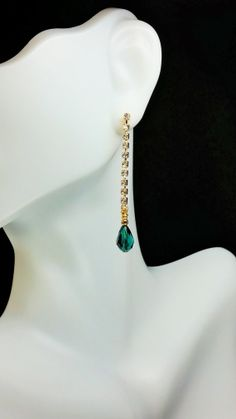Slides Down to Green Earrings by KeithSnyderCreations on Etsy, $31.99