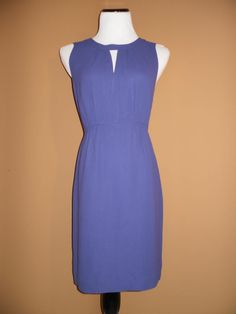 NWT J Crew Violet Keyhole Dress, Size 8 $168 SOLD OUT ONLINE
