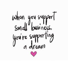 Shop small. Support