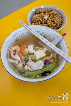 Golden Mile (Beach Road) Food Centre - Seafood Soup-9631 by The Bonding Tool, via Flickr