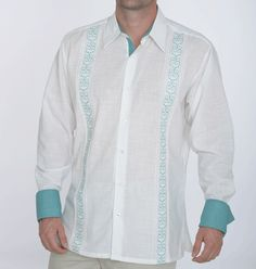 Shop for beach wedding shirts by color   Teal and white beach wedding shirt for the groom and groomsmen