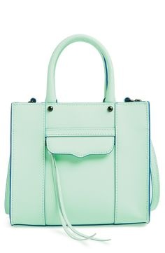 Crushing on this mint Rebecca Minkoff crossbody Mini Mab tote.