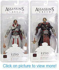 Assassin's Creed Brotherhood Unhooded Assassin 7 Action Figure Set of 2