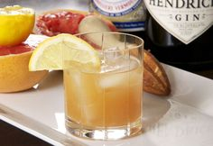 The Gin Hound 2 ounces gin 2 ounces fresh-squeezed grapefruit juice 1 1/2 ounces sweet vermouth 1/2 ounce lemon juice lemon slice for garnish Combine the liquids in a double old-fashioned glass, add ice, garnish with lemon. Flip winter the bird.