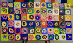 what a great day for pinning!  I LOVE this idea too!  it's a mural of circles created by a 2nd grade class (I think:)..don't quote me.  But anyway, mostly this would just be fun to have a bunch of kids come together to make a really cool piece of art.  Or you could do it as a family and each do a few different circles.....just love it!