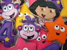 Dora The Explorer Cookies dora-the-explorer-birthday-party 4th Birthday Parties, 3rd Birthday, Birthday Ideas, Dora Diego, Dora The Explorer, Childrens Party, Party Planning, Party Time, Party Ideas
