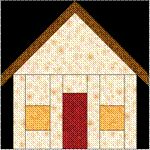 "Our House Quilt Block Pattern (6"" finished size) free pp pattern #quilting #blocks #house_block #paper_piecing #pattern"