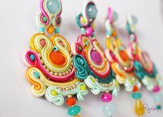 Reje creations soutache earrings- boho, gipsy https://www.facebook.com/rejegioielliinsoutache