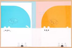 Kamio cat bear 2-pocket A4 file folder from Japan 3