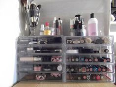 A great simple way to keep things organized. | Makeup | Pinterest | Organizing Makeup collection and Makeup collection storage  sc 1 st  Pinterest & A great simple way to keep things organized. | Makeup | Pinterest ...