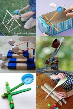 15 Easy Catapults to Make With Kids #summer #science #kidsactivities