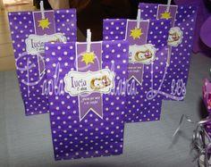 #Cumple temático #Rapunzel #Bolsitas de papel para golosinas