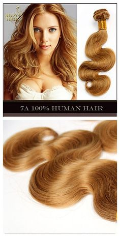 Get Scarlett Johansson's wavy blonde hairstyle so easily with these great quality human hair weave bundles. Get your new hairstyle for the 2015 #homecoming look. Click to share your homecoming great deal from Lightinthebox and 100% get FREE GIFT until 31th Aug.