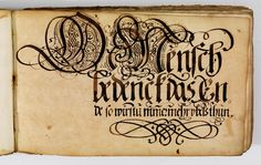 Kalligraphische Schriftvorlagen von Johann Hering zu Kulmbach - Johann Hering 1624-1634 (Bamberg) page 40.
