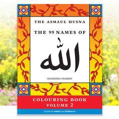 The Asmaul Husna Coloring Book Vol 2 (99 Names of Allah Arabic Colouring Asma ul Husna Islamic Art Muslim Gift Adult Coloring book Islamic) by ShamVanDamn on Etsy