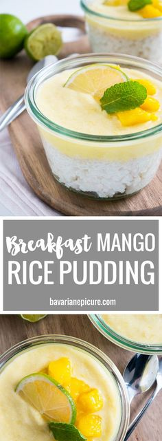 This vegan Mango Rice Pudding with Coconut makes a perfect breakfast or brunch treat. Can be made in advance and tastes great cold!
