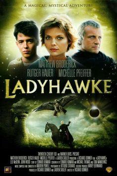 """Lady hawk"". Matthew Broderick, Michelle Pfeiffer, Rutger Hauer."