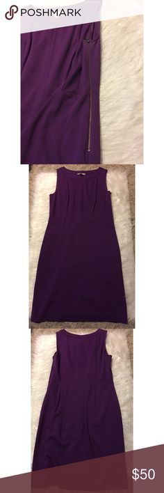 Banana Republic Cocktail Dress Worn once for an event. Banana Republic sleeveless purple cocktail dress with side zipper closure. Dress has pockets (a huge bonus 😄). Hits right about the knees. Size 8. Offers welcome. Smoke free home. Banana Republic Dresses