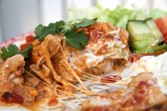 Mexíkóskur kjúklingaréttur Wine Recipes, Cooking Recipes, Lasagna, Chicken Recipes, Cabbage, Turkey, Favorite Recipes, Meat, Vegetables