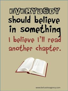 I believe I'll read another chapter.