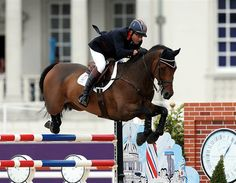 Peter Charles and his horse. They won a gold!