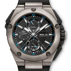 IWC Ingenieur Double Chronograph Titanium #watch #iwc