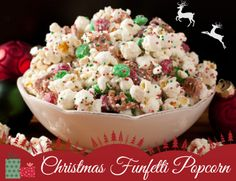 Delicious, homemade 'funfetti' popcorn to say thanks to your child's teacher.  6 Affordable Teacher Christmas Gifts