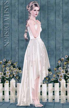 Daisy небольшим хвостом свадебные костюмы и тапочки хрусталя