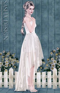 Daisy Small tail wedding suits and crystal glass slipper at Sasha. J - Sims 3 Finds I use this on my sims a lot when they get married, it's so pretty
