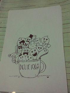 doodle monster.. with mug