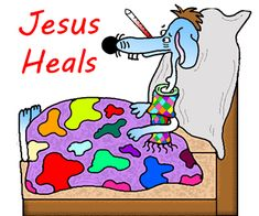 """Church House Collection Blog: Sick Dog With Thermometer """"Jesus Heals"""" Cutout Printable For Small Kids"""