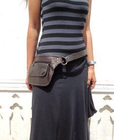 Utility Belt Leather Belt Bag Hip Bag Pocket Belt in by leilamos, $80.00