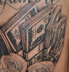 Cash Tattoo Designs Pin money tattoos cash stack tattoo dollar sign ...
